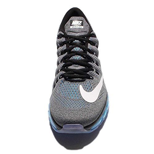 Nike Mens Air Max 2016 Running Shoes Dark Grey/White/Photo Blue 806771-002 Size 8.5 4cgVLSPI