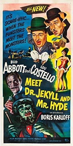 Abbott /& Costello meet Dr Jekyll /& Mr Hyde movie poster print