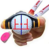birdie79 360 Degree Rotation Easy Ball Liner Drawing Alignment Putting Tool Kit - Golf Accessories - Unique 3 Line Golf…