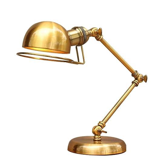 Lámpara de Mesa Retro Eje de balancín de Bronce Brazo ...