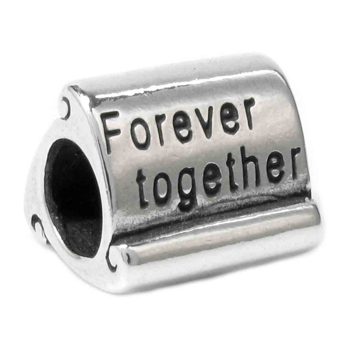 Sterling Silver Forever Together European-style Bead Charm