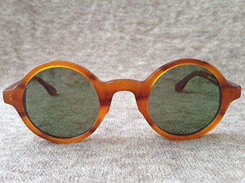 VIPASNAM-Retro Vintage Johnny Depp Fashion Eyeglasses Round Blonde FrameGreen - Johnny Aviators Depp