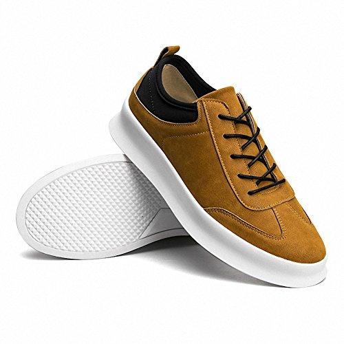 Ben Sports Hombre Low Top Calzado de Skateboarding Zapatillas de skate deportivo de exterior para Hombre amarillo