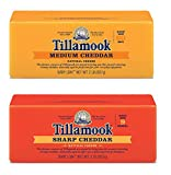 Tillamook Medium Cheddar Cheese & Sharp Cheddar Cheese Bundle of 2 Lb Baby Loaves