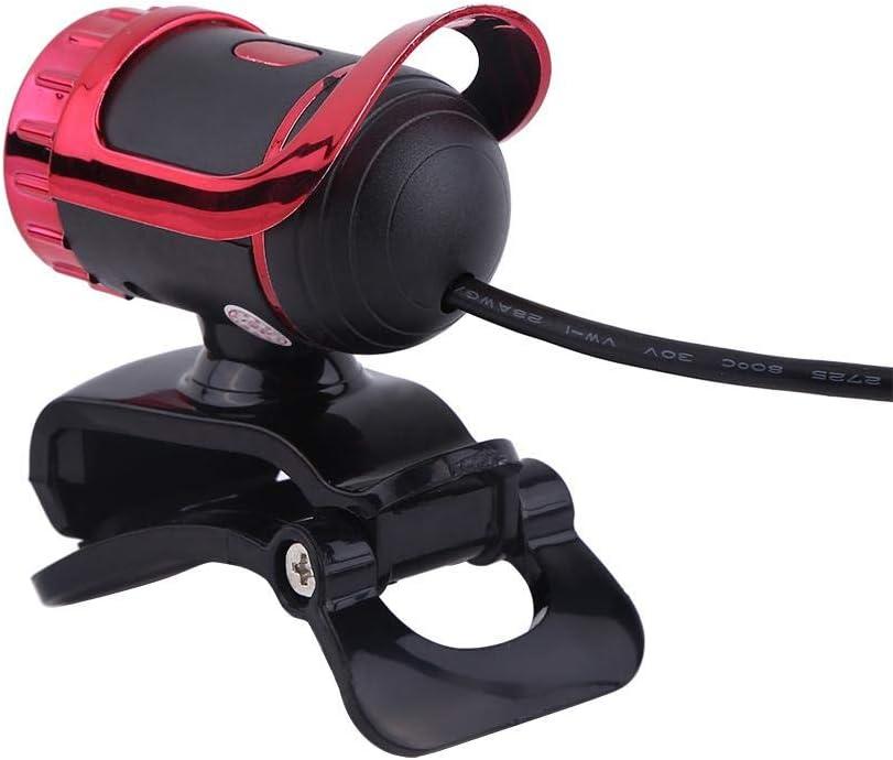 Microfono Rotante con Microfono Incorporato per Pc USB 2.0 Fotocamera 360 /° HD Pixel Webcam Clip-on Web Camera 12m Argento Samfox Fotocamera
