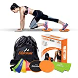 Beachbody Ab Workout Core Sliders Fitness | with 5 Resistance Bands/Workout Bands for Legs and Butt | Your Complete 80 Day Obsession and Workout Equipment for Women (+2 Bonus Items)