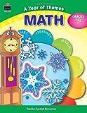 A Year of Themes - Math, Gardes 1-2, Sarah Clark, 0743937139