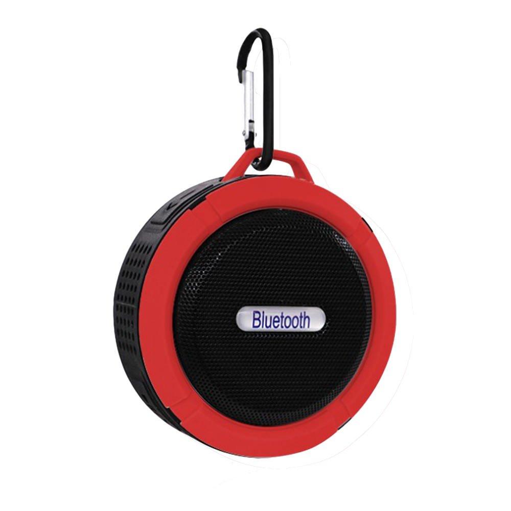 Refaxi Bluetooth Wireless Speaker Mini Super Bass For Smartphone Waterproof Handsfree (Red)