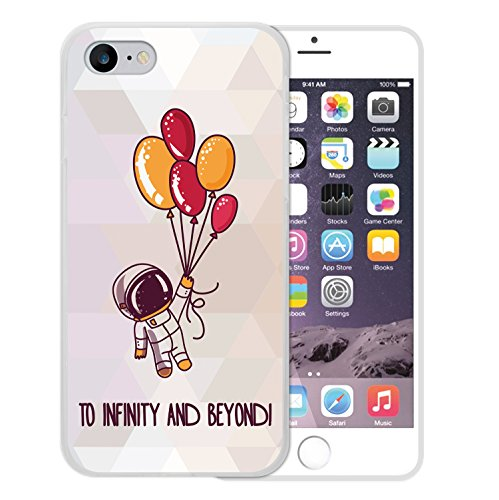 iPhone 8 Hülle, WoowCase Handyhülle Silikon für [ iPhone 8 ] Astronaut Handytasche Handy Cover Case Schutzhülle Flexible TPU - Transparent