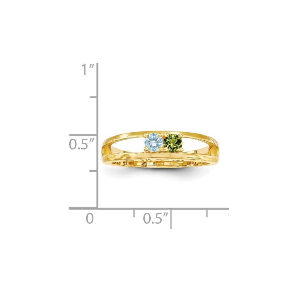 Amazon.com: 14K Yellow Gold 3mm Genuine Family Jewelry Ring ...