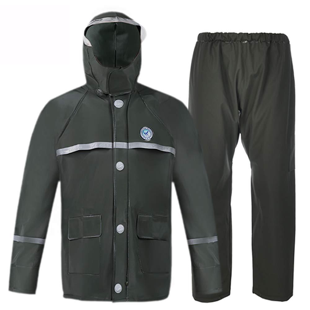 AINUO Tuta Impermeabile da Pioggia Impermeabile Tuta Impermeabile da Moto per Adulti (Dimensione : L) Vestiti da pioggia