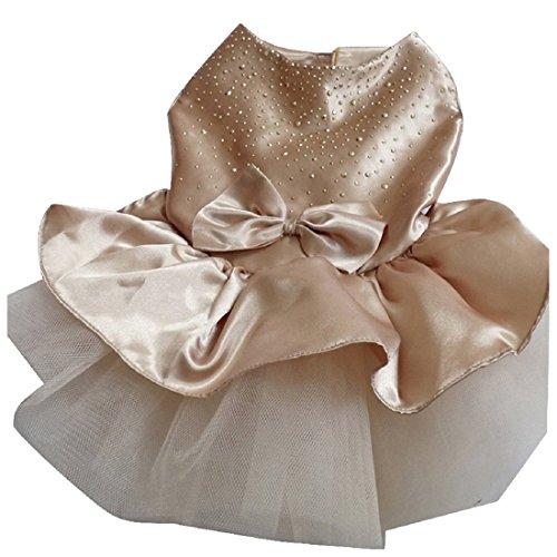 SODIAL(R) 1 Pcs Pet Dog imitation silk Dress Evening Dress ballet dress(S, - Imitation Tiffany