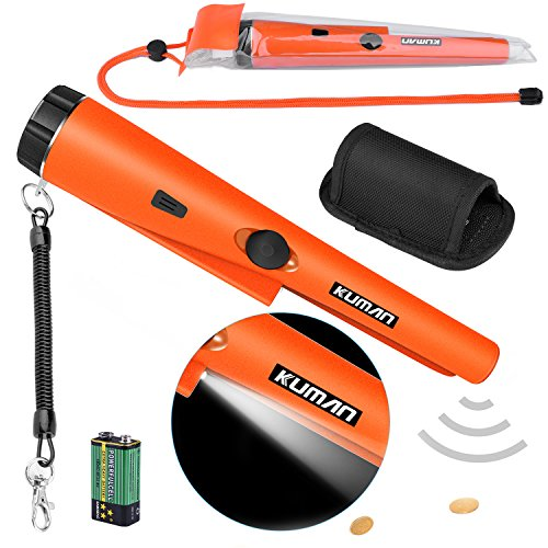 Kuman Pin Pointer Metal Detector Kit with Multifunctional PVC Waterproof Case and Holster 360° Scanning Treasure Hunting Unearthing Tool Review
