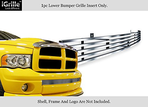 APS Fits 02-05 Dodge Ram Lower Bumper Stainless Steel Billet Grille Insert ()