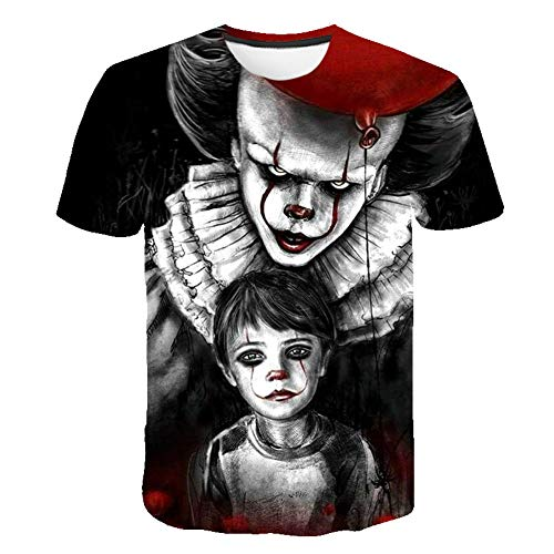 (Stephen King's It Clown Horror Movie T-Shirt Men's Tee Top S - 5XL (S) Black )