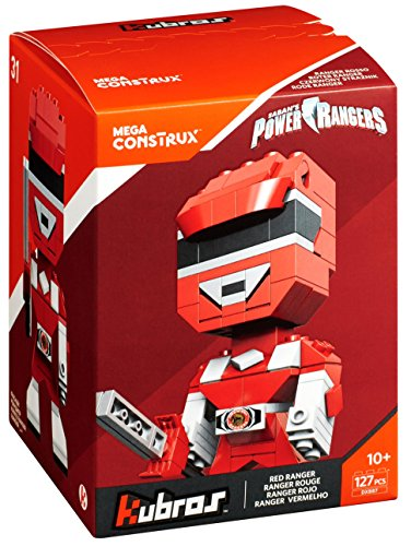 Mega Construx Kubros Power Rangers Red Ranger Building (Power Ranger Helmet Kit)