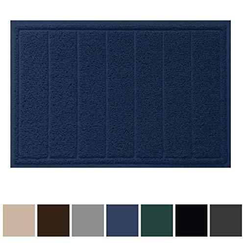 Gorilla Grip Original Durable Indoor Door Mat, 35x23, Large Size, Heavy Duty Doormats, Waterproof Doormat, Easy Clean, Low-Profile Mats for Entry, Garage, Patio, High Traffic Areas, Navy Blue