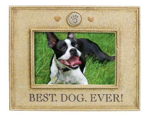 Grasslands Road Best Dog Ever Picture Frame, 4 by 6-Inch (Shepherd Dog Picture Frame)