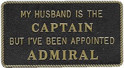 Bernard Engraving MY HUSBAND IS THE CAPTAIN BUT by BERNARD ENGRAVING