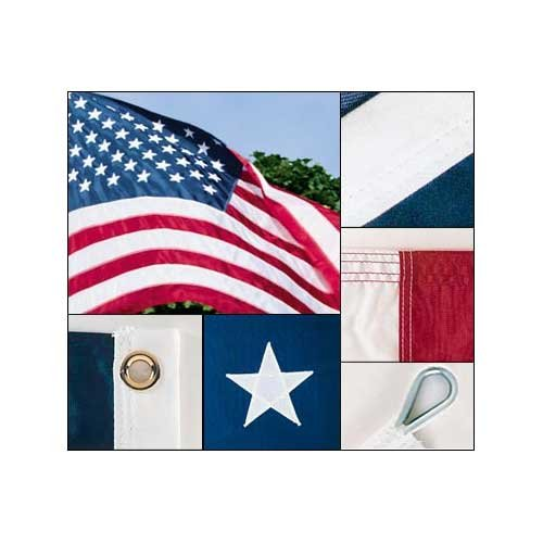 Valley Forge American Flag 15ft x 25ft Sewn Nylon Flag - No Additions by Valley Forge