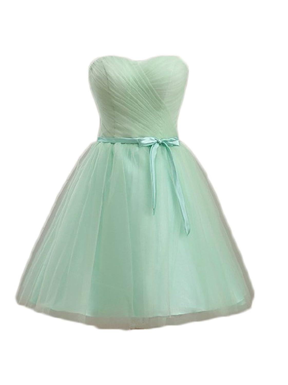 Eudolah Women's Strapless Tull Long/Short Evening/Homecoming Dress