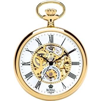 Edelstahl London Royal Goldplattiert Taschenuhr MUhrketteAmazon WH9EID2Y