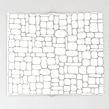 Society6 Stone Wall Drawing #3 Throw Blankets 88'' x 104'' Blanket