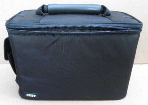Coby Black Zipper Camcorder Case Bag with Shoulder Strap -