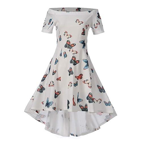 a31adb0d42d Amazon.com  Oliviavan Women s Retro Bodycon Printing Short Sleeve Evening  Party Ball Swing Dress  Clothing