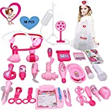 Kids Doctor Toy - Deluxe Medical Kit for Kids/Toddlers - Pretend Play Set for Kids - Girls Boys Medical Doctor Role Playing(38 Pieces,Pink)