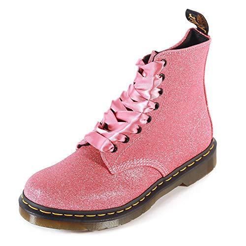 Dr. Martens Women's 1460 Pascal Glitter Fashion Boot, Pink, 4 Medium UK (6 US)