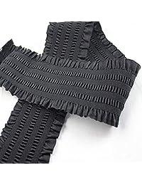 Shoppy Star 7.5CM Wide Durable Pants Skirt Belt/Short Skirt lace Jacquard Waistband Elastic/Rubber Band/Loose Tight: 50mm
