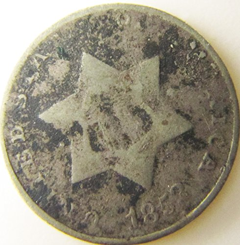 1852 3 Cent Nickel Silver Variety Three-Cent Extremely Fine