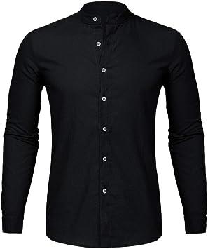 YFSLC-Studio Camisa De Manga Larga Hombre,Hombres Camiseta ...