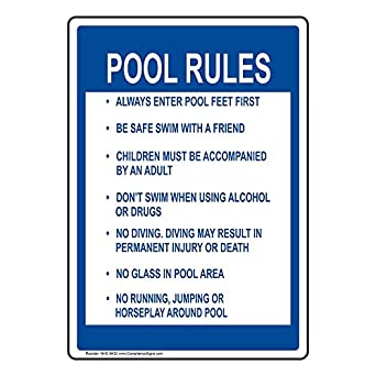 Compliancesigns Aluminum Swimming Poolspa Sign 14 X 10 In With
