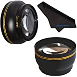 55mm HD 2.2x Telephoto & .43x Wide Angle Lens Bundle for Nikon AF-P DX NIKKOR 18-55mm F3.5-5.6G VR Lens, Macro USM 55mm Wide Angle Lens, 55mm Telephoto Lens, 55mm Lens, 55mm Lens Kit - Shop Smart!