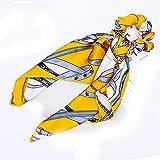 Bow Streamers Hair Bands Women Hair Ties Striped Scrunchie Scarf Ponytail Holder Hair Ring Hair Accessories Headwear,B04