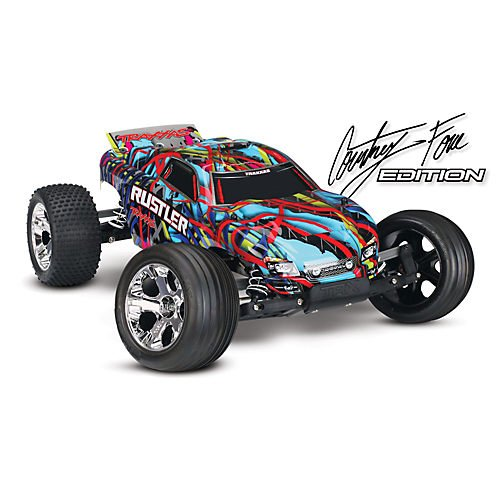 1/10 Rustler Stadium Truck RTR with TQ 2.4GHz, XL-5, Courtney Force Edition