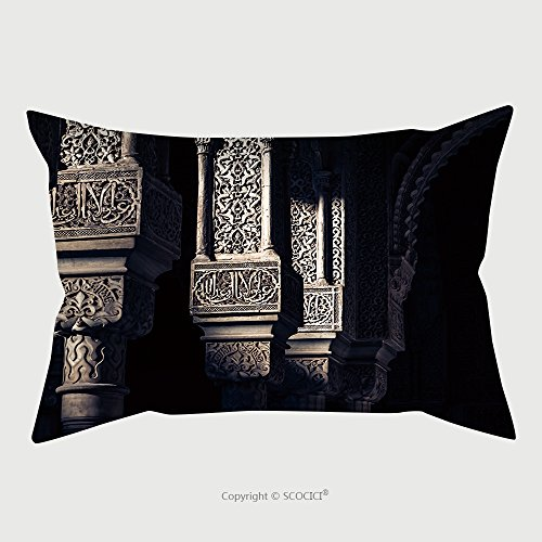 Custom Satin Pillowcase Protector Alhambra Islamic Art 182099486 Pillow Case Covers Decorative by chaoran