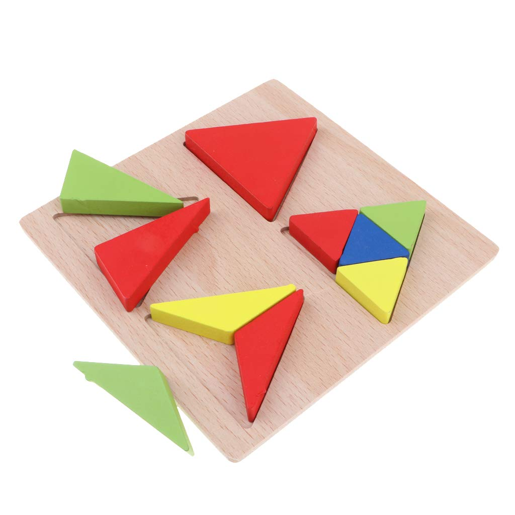 686d7164acb5f F Fityle Wooden Puzzle Toys Triangle Puzzle Color Shape Sorter Preschool Learning  Toy  Amazon.co.uk  Toys   Games