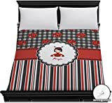 Ladybugs & Stripes Duvet Cover - Full / Queen (Personalized)