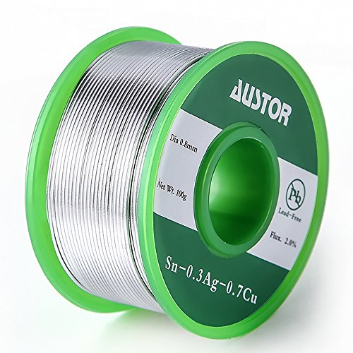 Why Choose Austor 0.8mm Lead Free Solder Wire with Rosin Core, Sn 99% Ag 0.3% Cu 0.7%, 100g