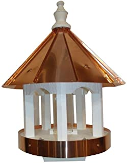 """product image for Saving Shepherd 24"""" Copper TOP Bird Feeder - 16 in. Round 4x4 Post Mount Gazebo Amish Handcrafted in Lancaster Pennsylvania USA"""