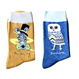Leoparts Valentine's Pattern Socks Funny Cotton Novelty Crazy Graphic Crew Casual Socks 2 pack
