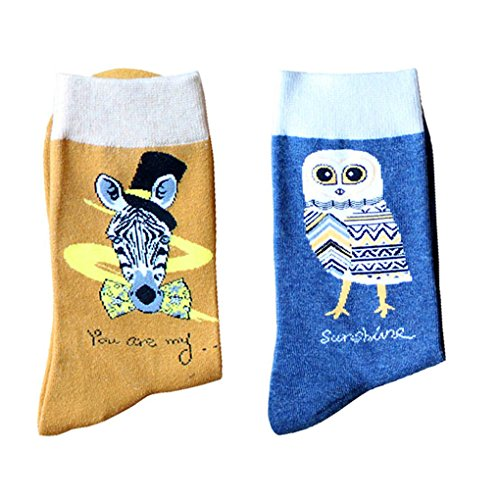 Leoparts Valentine's Pattern Socks Funny Cotton Novelty Crazy Graphic Crew Casual Socks 2 pack by Leoparts