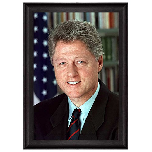 Portrait of William J Clinton (Bill Clinton) (42th President of the United States) American Presidents Series Framed Art Print