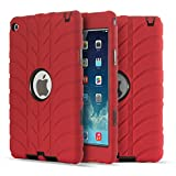 iPad Mini 4 Case, UZER Tire Pattern Shockproof Anti-slip Silicone High Impact Resistant Hybrid Three Layer hard PC+Silicone Armor Protective Case Cover for iPad Mini 4 (2015 Model)