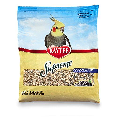 Kaytee Supreme Bird Food For Cockatiels, 5-Lb Bag