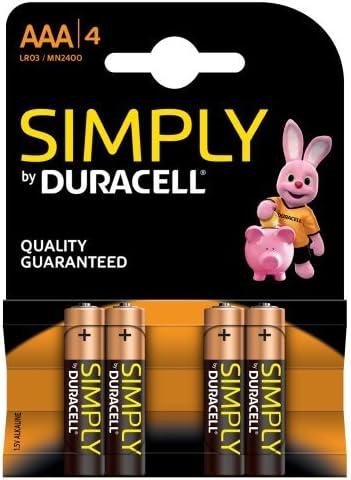 Duracell MN2400B4S - Pack de 4 pilas AAA color negro: Amazon.es: Electrónica