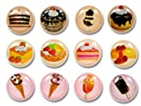 ice cream case for ipod 4 - Chocolate Dessert Delights Vanilla Ice Cream Fruit Tarts 12 Pieces Home Button Stickers for iPhone 5 4/4s 3GS 3G, iPad 2, iPad Mini, iPod Touch